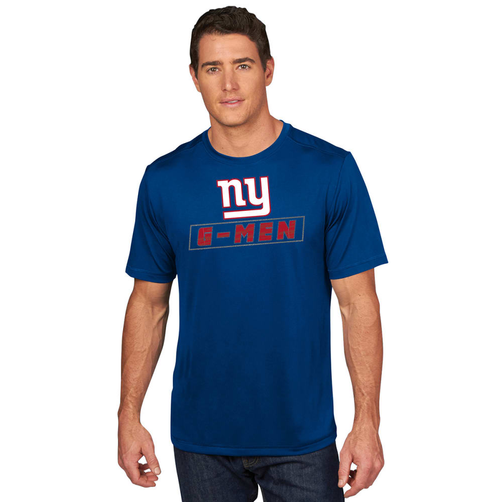 NEW YORK GIANTS Men's Edge Rush Poly Short-Sleeve Tee - ROYAL BLUE