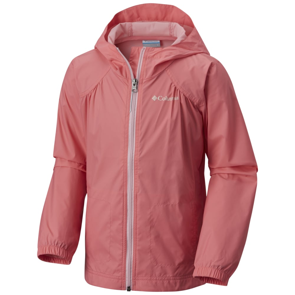 Columbia Girls' Switchback Rain Jacket - Red, M