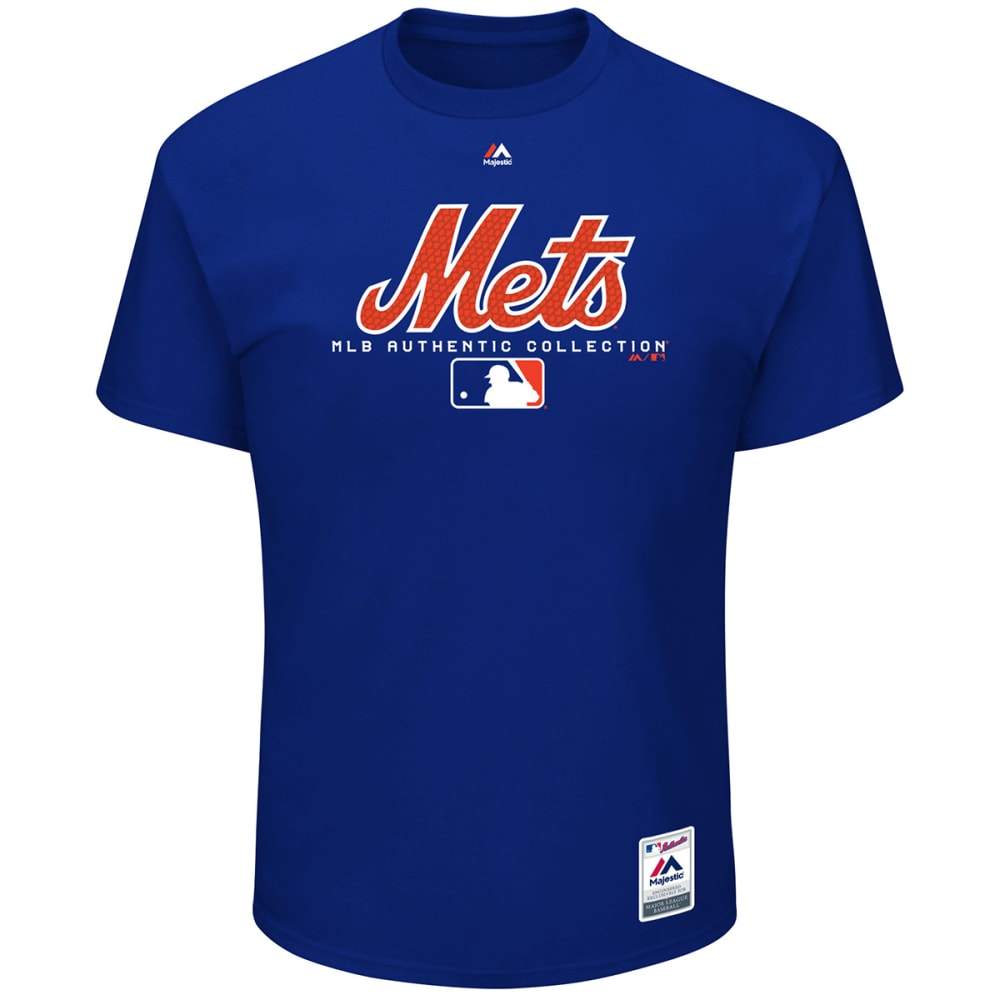 NEW YORK METS Men's Authentic MLB Team Drive Short-Sleeve Tee - ROYAL BLUE
