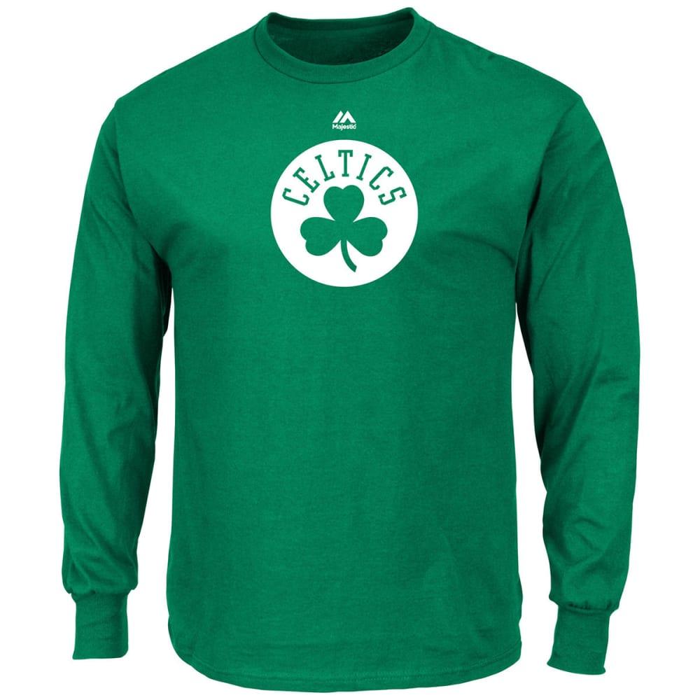 BOSTON CELTICS Men's Primary Logo Long-Sleeve Tee - GREEN