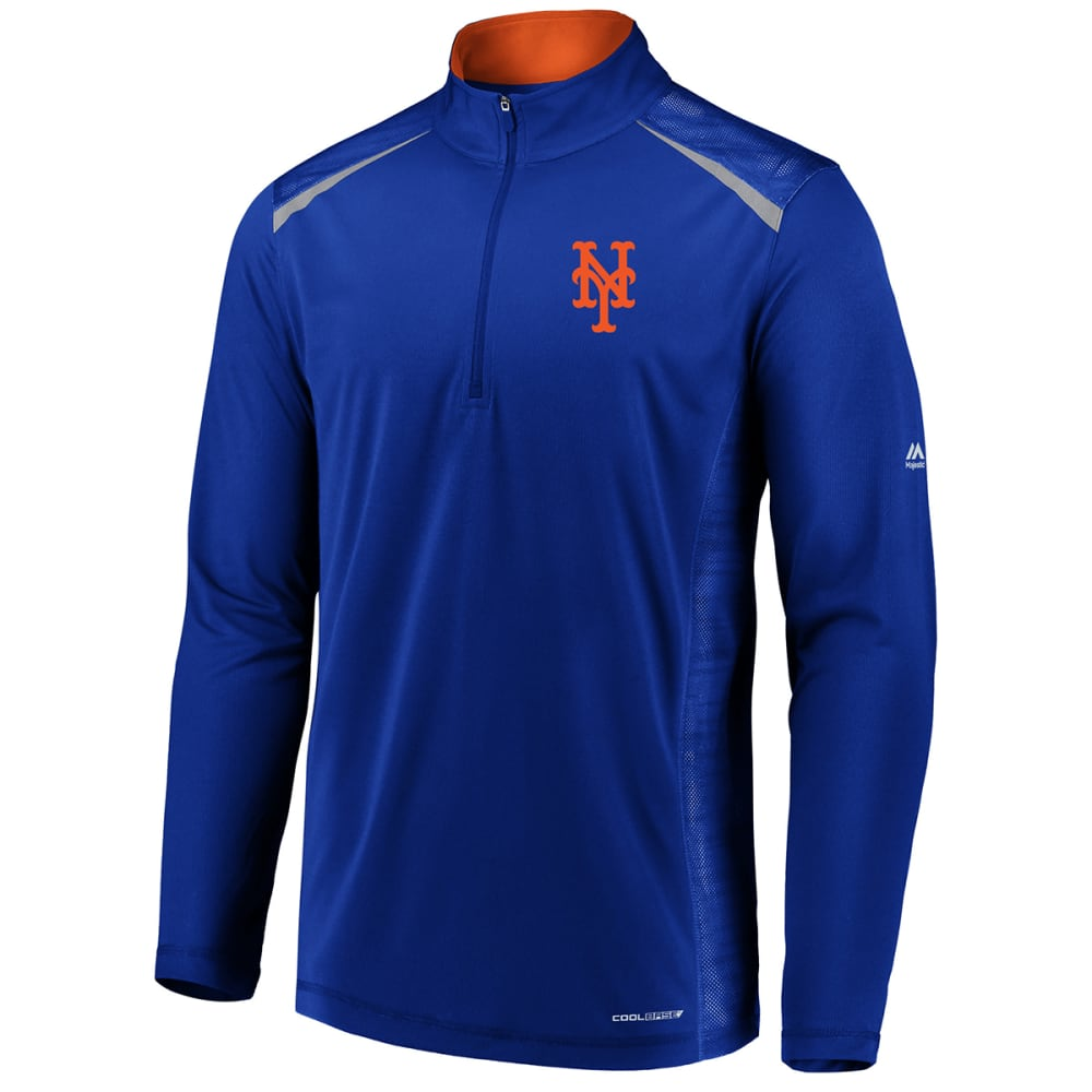 NEW YORK METS Men's Perfect Moments Half Zip Pullover - ROYAL BLUE