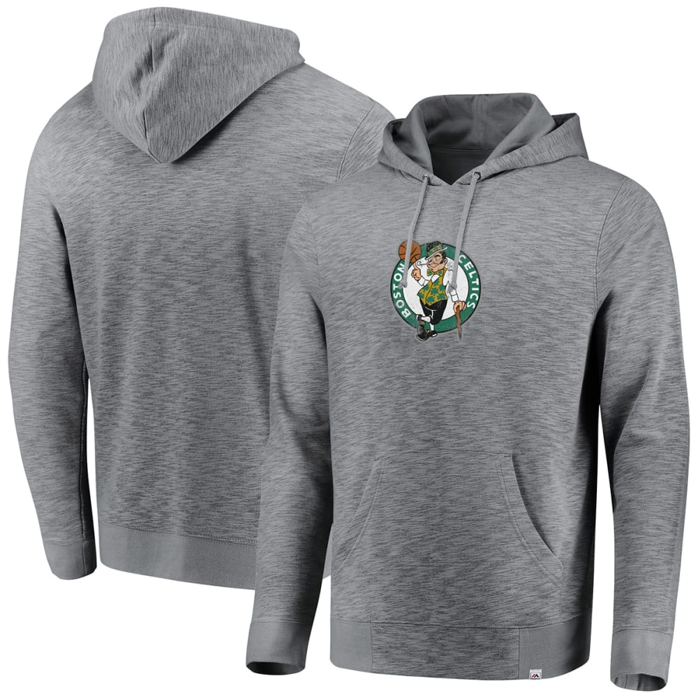 BOSTON CELTICS Men's Run and Jump Pullover Hoodie - GREY