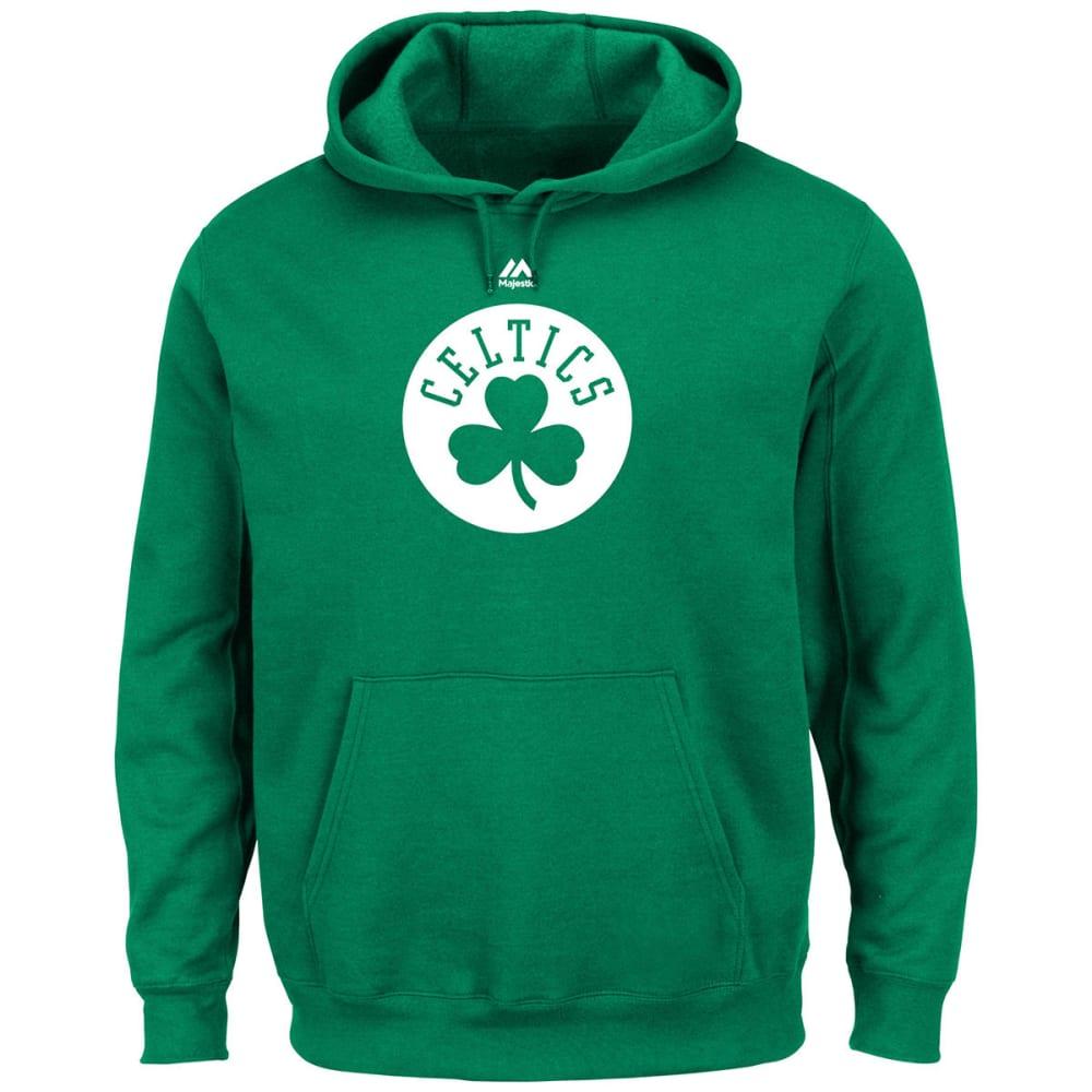 BOSTON CELTICS Men's Primary Logo Pullover Hoodie - GREEN