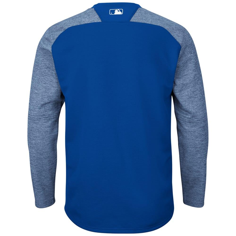 NEW YORK METS Men's Authentic Tech Fleece Pullover - ROYAL BLUE