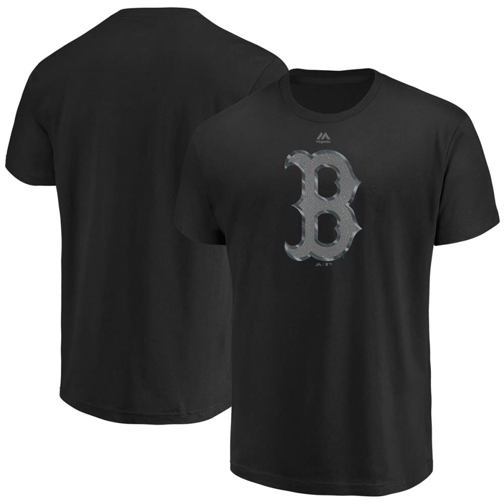 BOSTON RED SOX Men's Game Day Battle Reflective Short-Sleeve Tee - BLACK