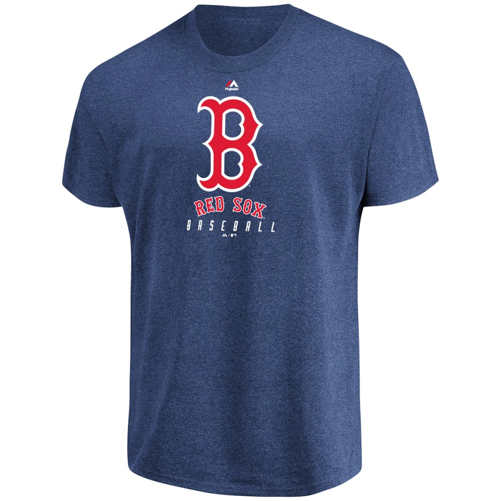 BOSTON RED SOX Men's Fundamentals Dual-Blend Short-Sleeve Tee - NAVY