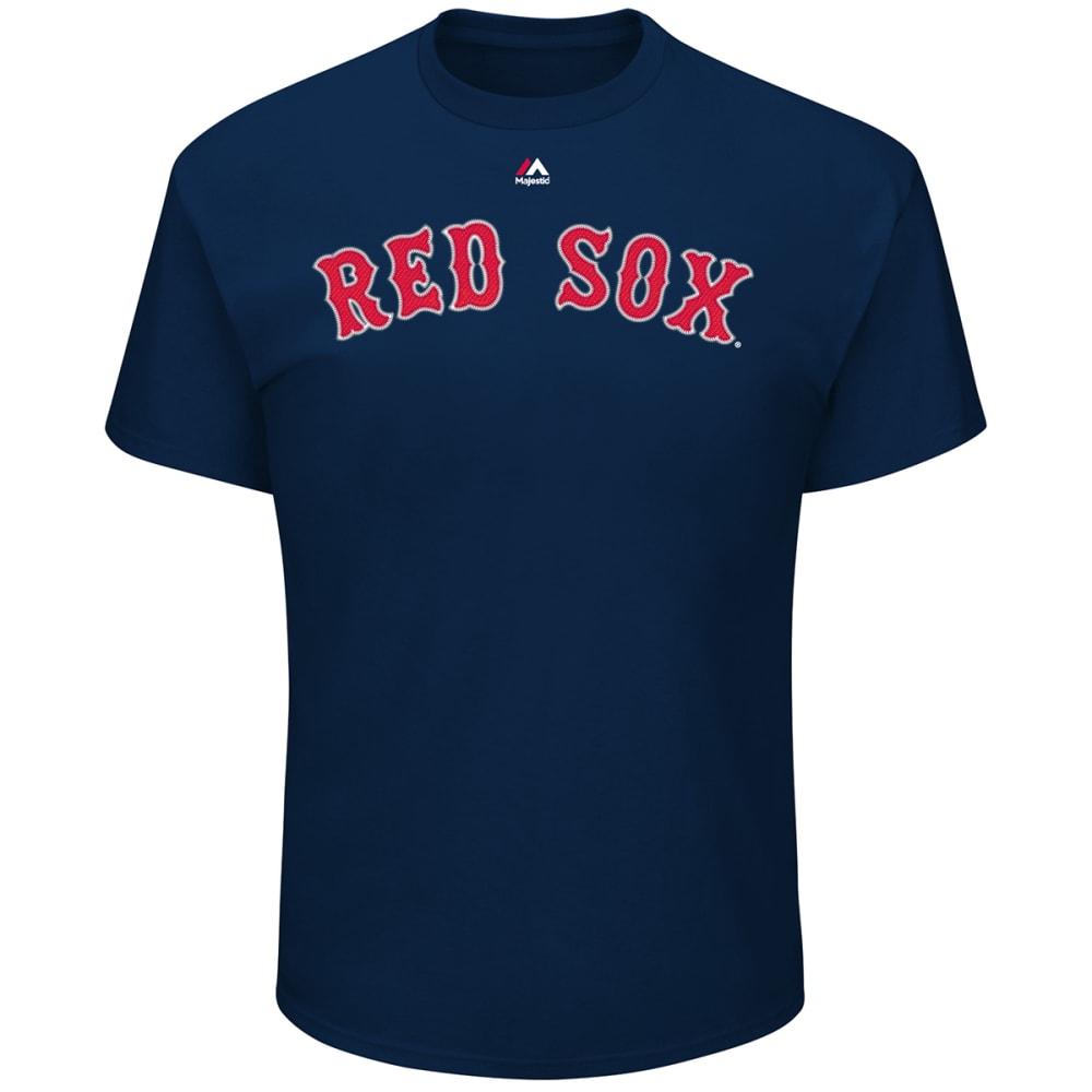 BOSTON RED SOX Men's Wordmark Crew Neck Tee - NAVY
