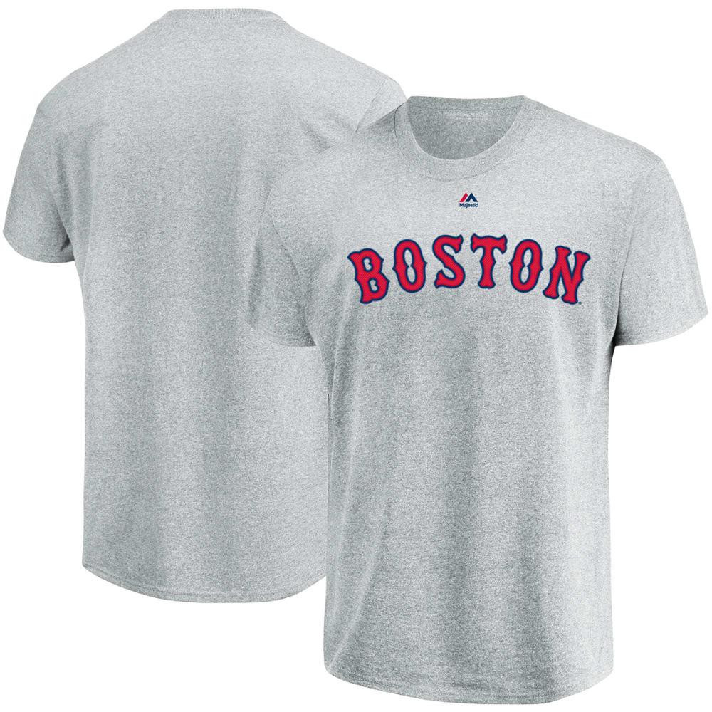 BOSTON RED SOX Men's Road Wordmark Short-Sleeve Tee - GREY