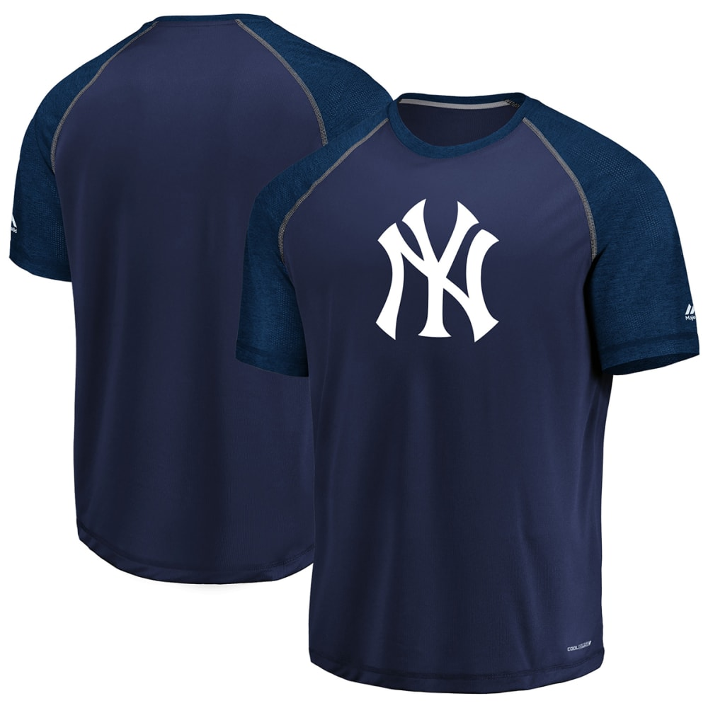 NEW YORK YANKEES Men's Got The Word Poly Raglan Short-Sleeve Tee - NAVY