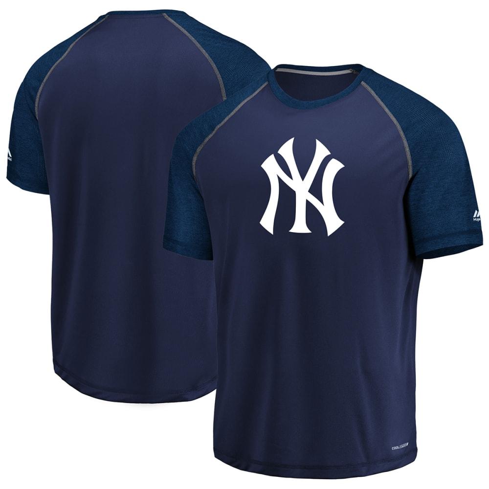 NEW YORK YANKEES Men's Got The Word Poly Raglan Short-Sleeve Tee - NAVY