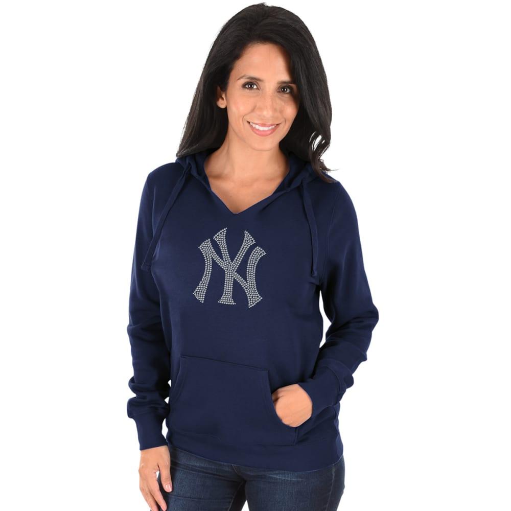 NEW YORK YANKEES Women's Dream of Diamonds Pullover Hoodie - NAVY
