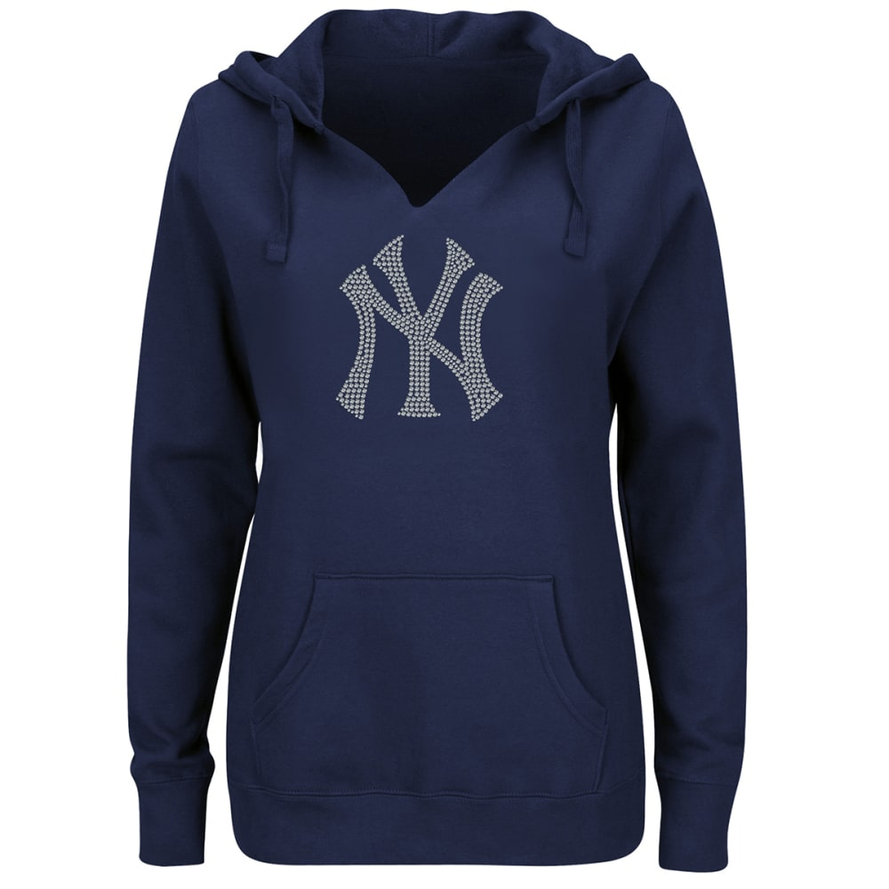 NEW YORK YANKEES Women's Dream of Diamonds Pullover Hoodie - NAVY