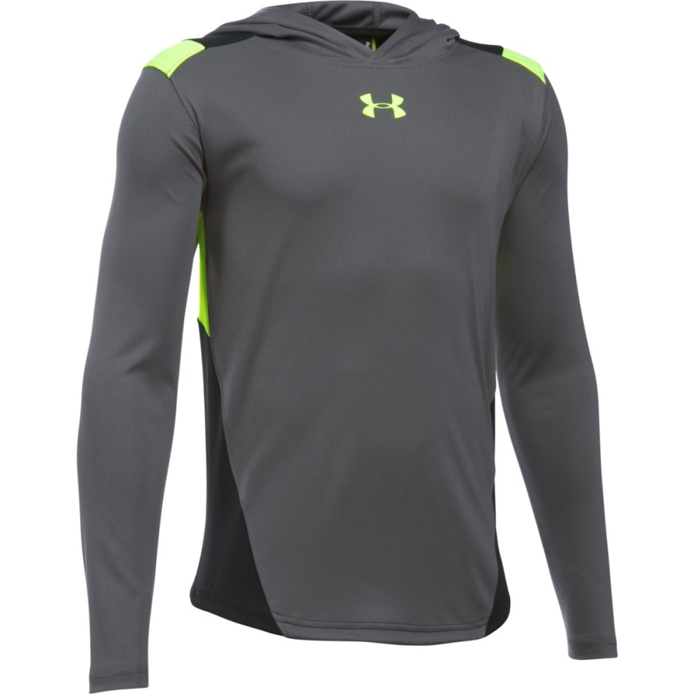 UNDER ARMOUR Boys' Select Shooting Long-Sleeve Shirt - GRAPHITE-041