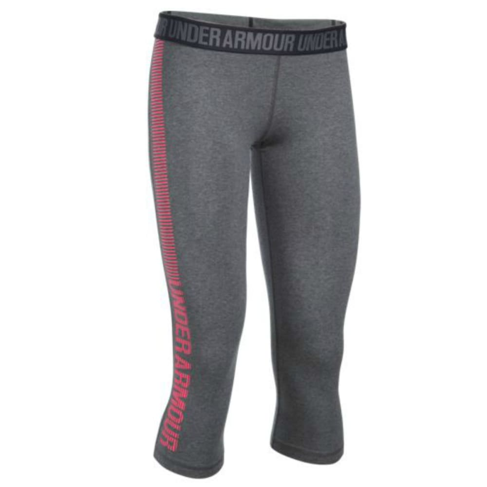UNDER ARMOUR Women's Favorite Capri Graphic Leggings - GRAPHITE-091