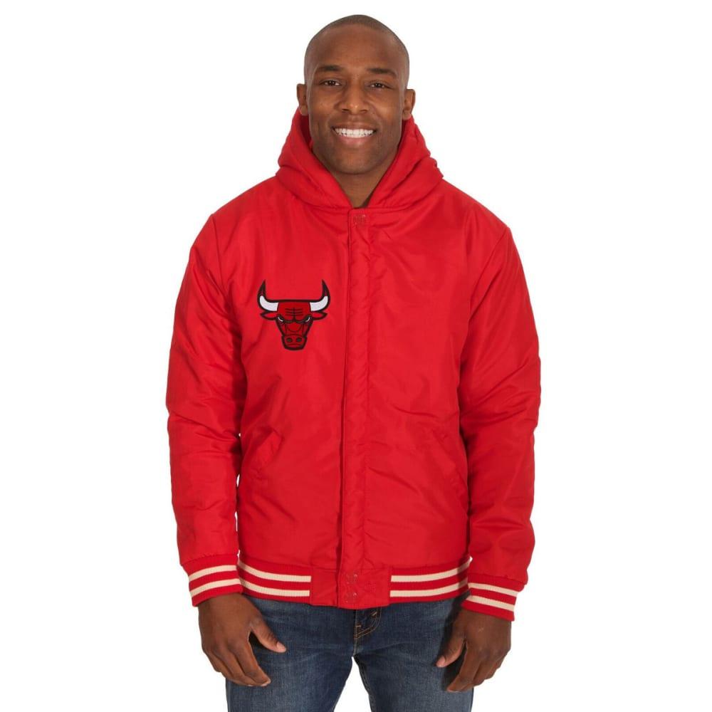 CHICAGO BULLS Men's Reversible Fleece Hooded Jacket - RED CREAM