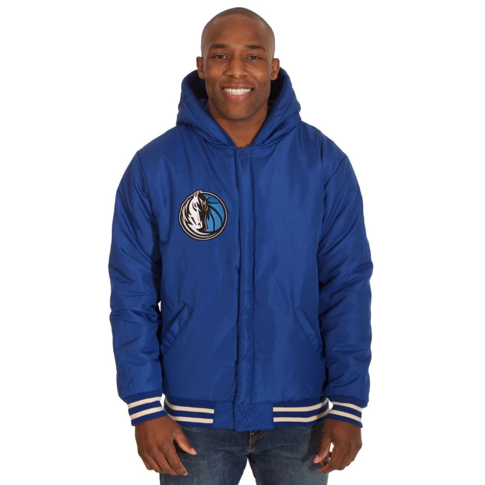 DALLAS MAVERICKS Men's Reversible Fleece Hooded Jacket - ROYAL CREAM
