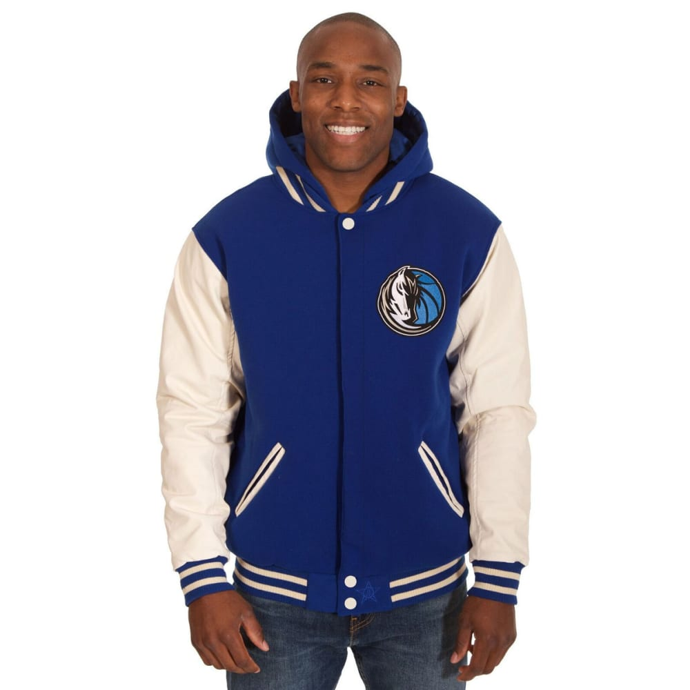 DALLAS MAVERICKS Men's Reversible Fleece Hooded Jacket - ROYAL CREAM