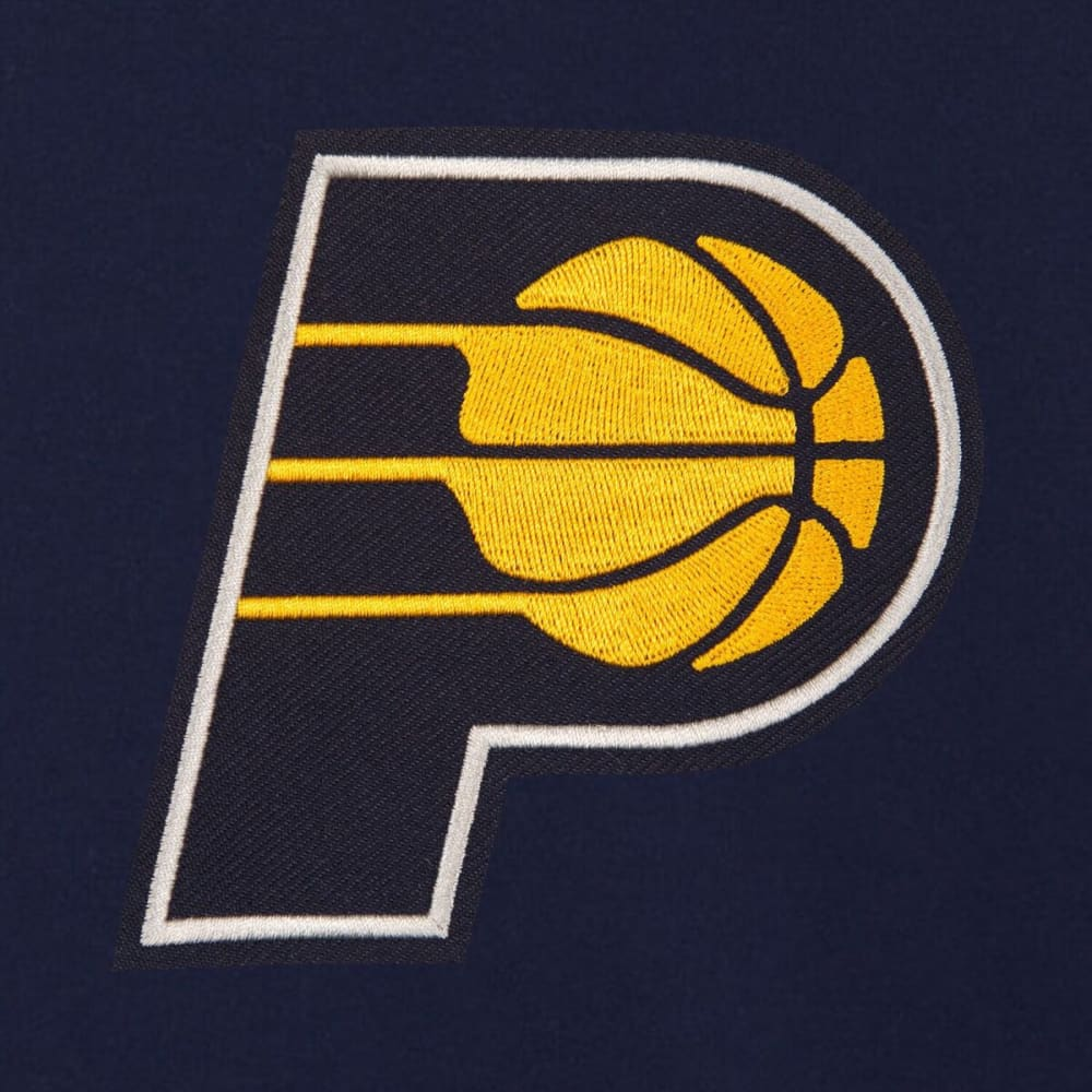 INDIANA PACERS Men's Reversible Fleece Hooded Jacket - NAVY CREAM