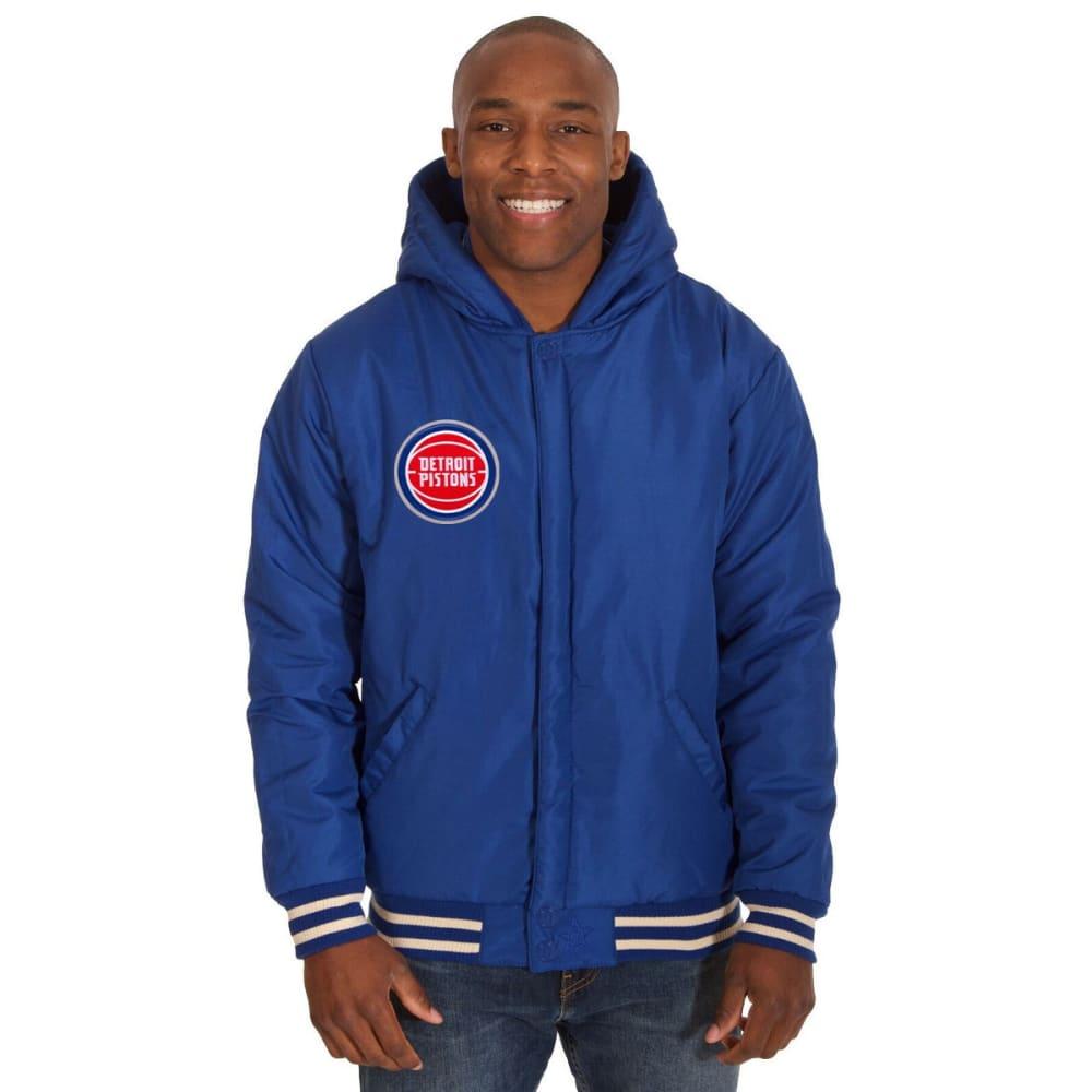 DETROIT PISTONS Men's Reversible Fleece Hooded Jacket - ROYAL CREAM