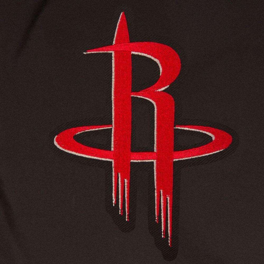 HOUSTON ROCKETS Men's Reversible Fleece Hooded Jacket - BLACK CREAM