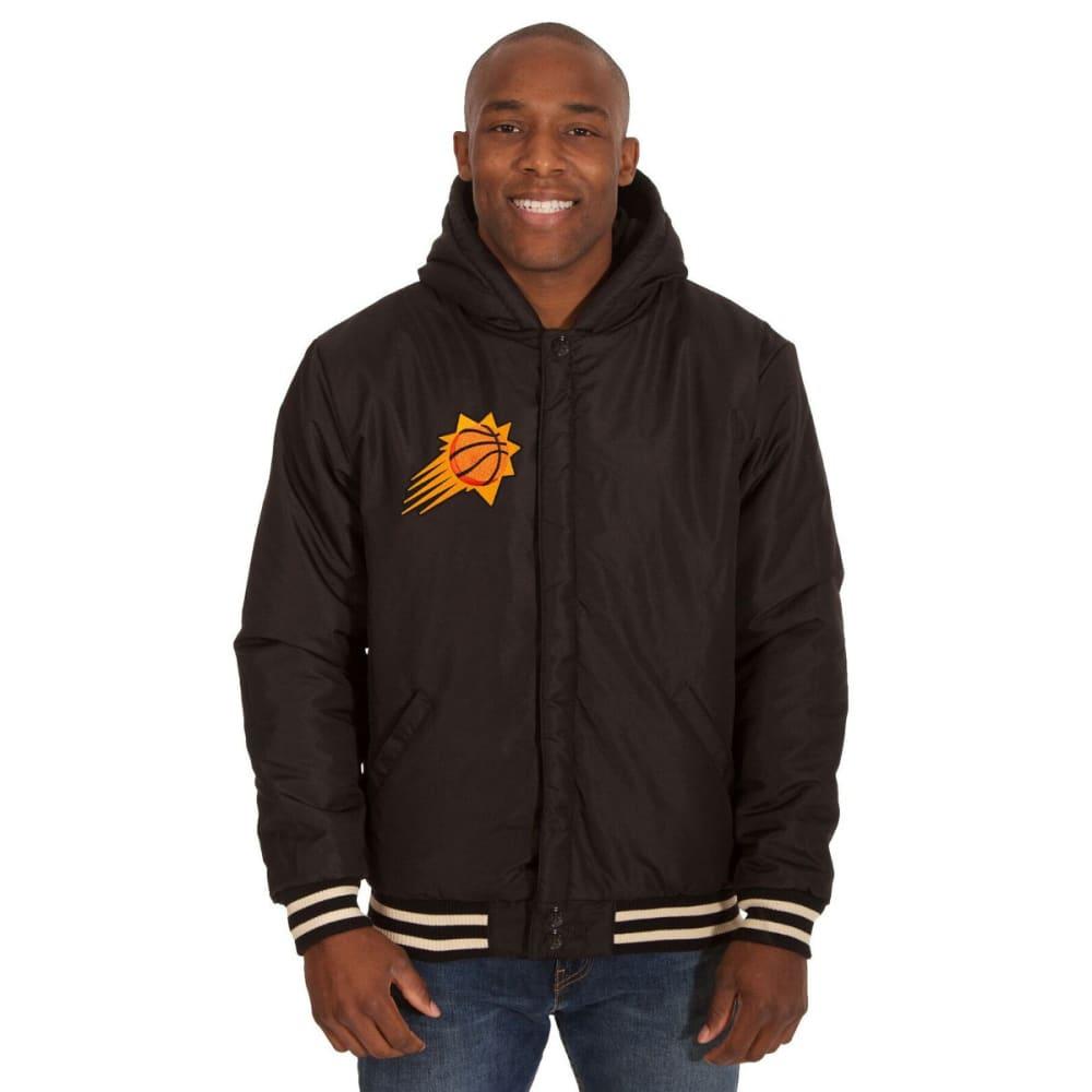 PHOENIX SUNS Men's Reversible Fleece Hooded Jacket - BLACK CREAM