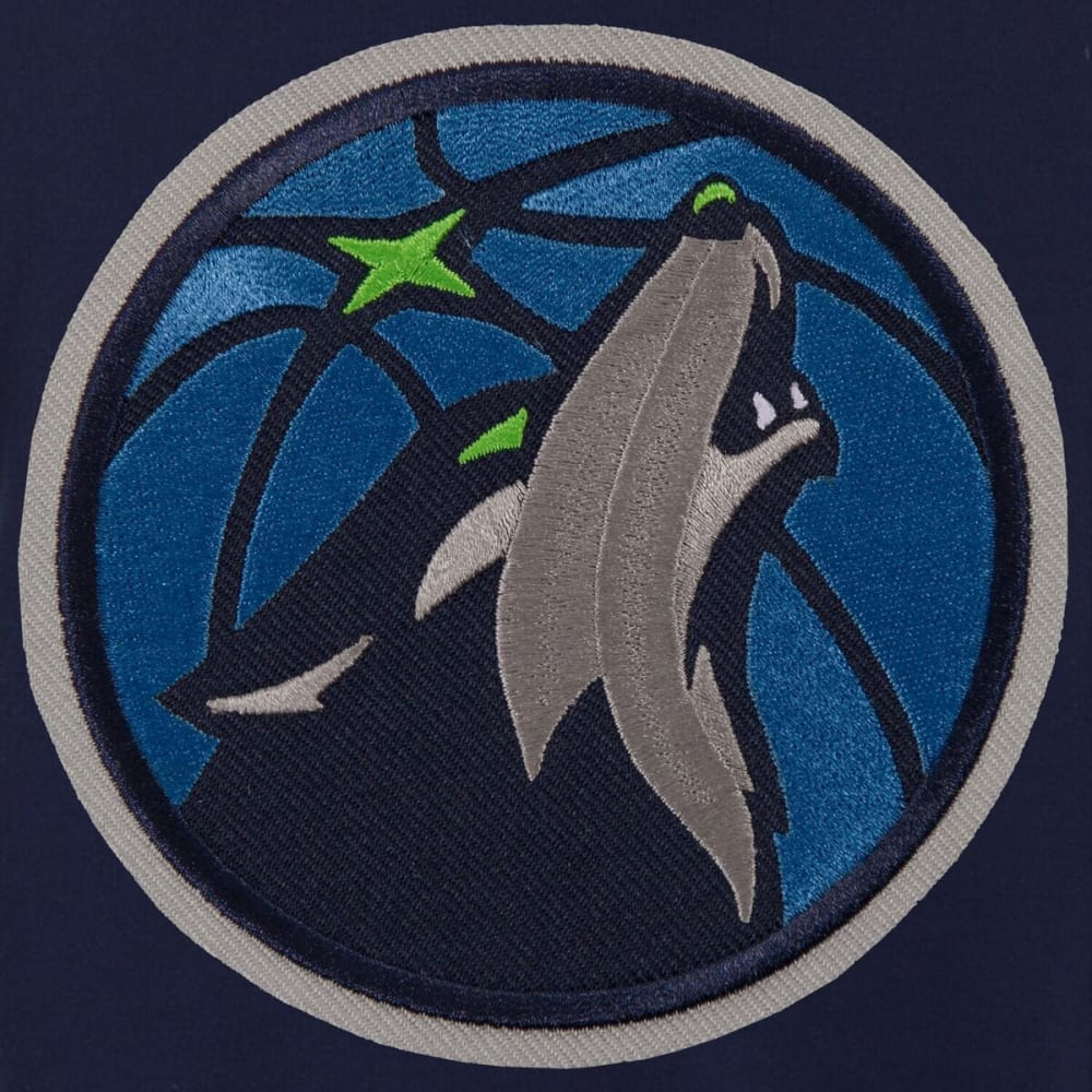 MINNESOTA TIMBERWOLVES Men's Reversible Fleece Hooded Jacket - BLACK CREAM