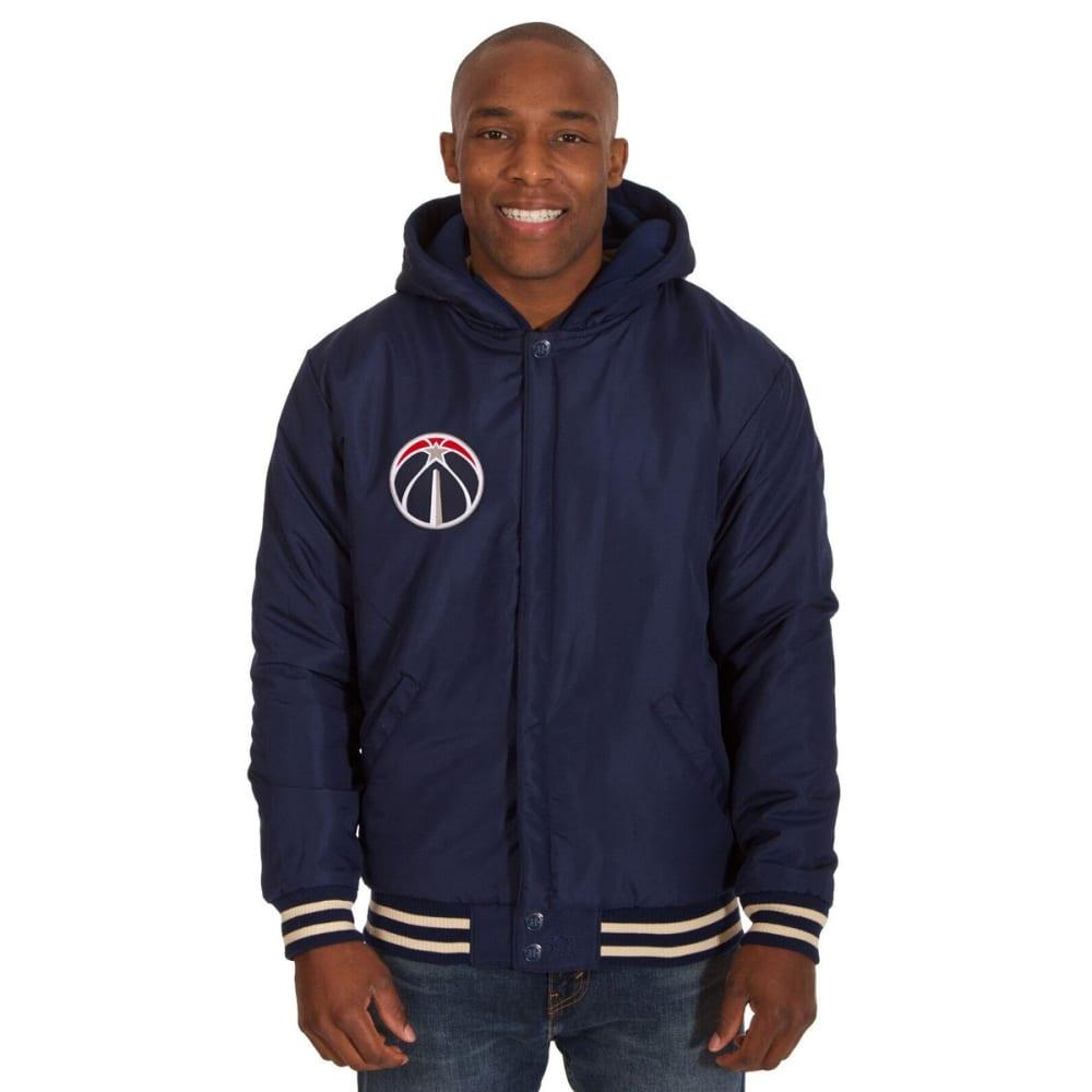 WASHINGTON WIZARDS Men's Reversible Fleece Hooded Jacket - NAVY CREAM