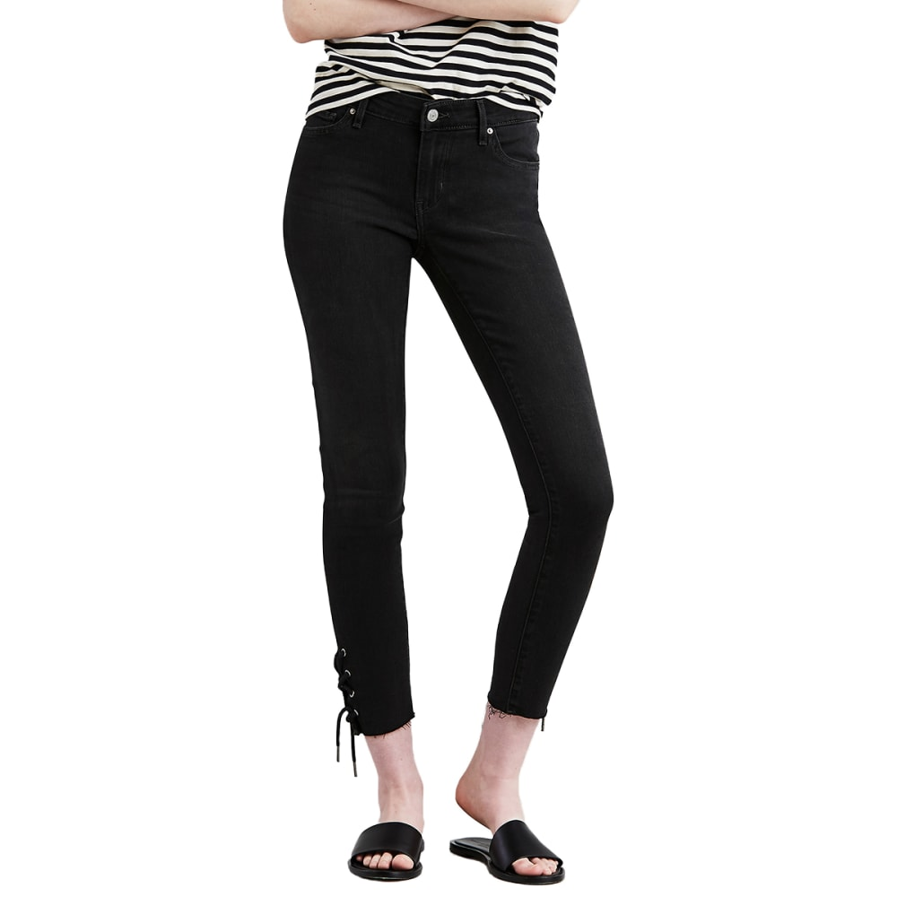 LEVI'S Women's 711 Lace-Up Skinny Jeans - 0000-STREET FLAIR