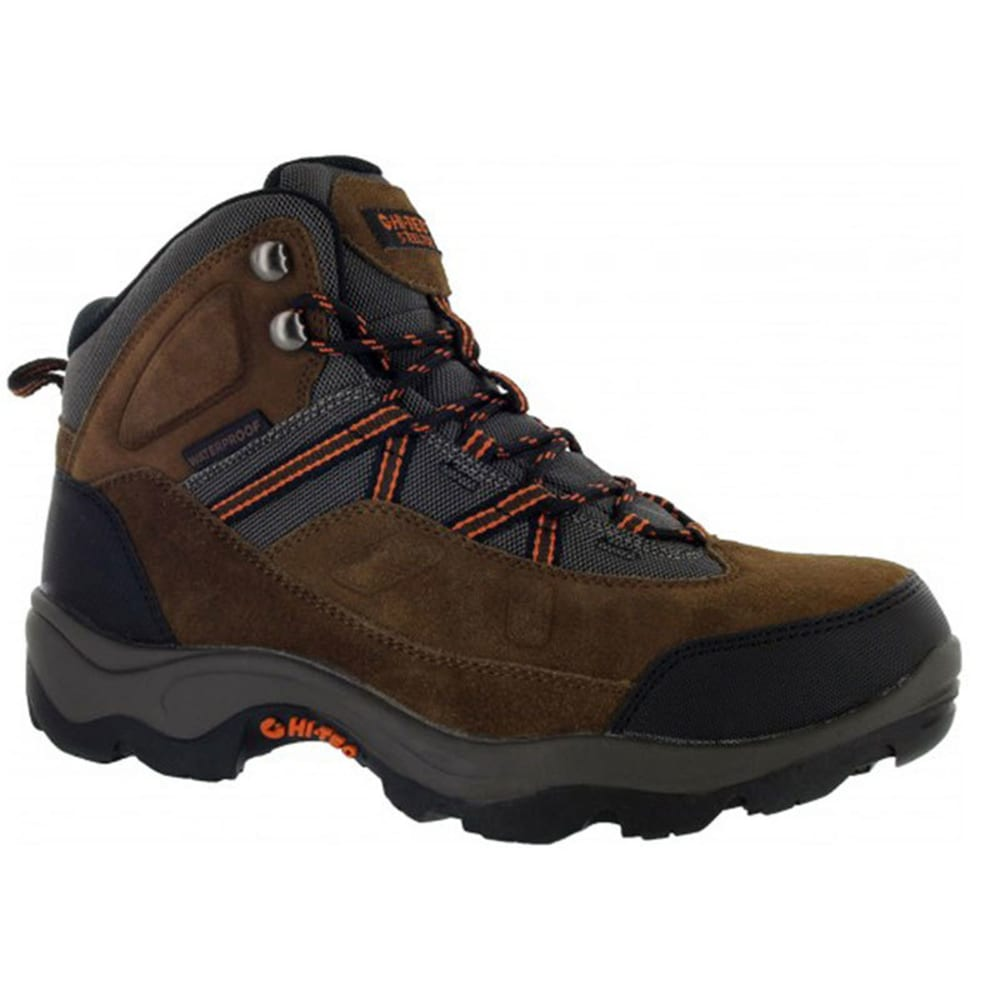 HI-TEC Men's 5 in. Bandera Pro Mid Waterproof Hiker Steel Toe Work Boots, Dark Brown, Wide - DARK BROWN