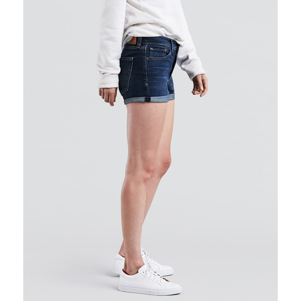 LEVI'S Women's High-Rise Shorts - 0019-BLUE FOREST