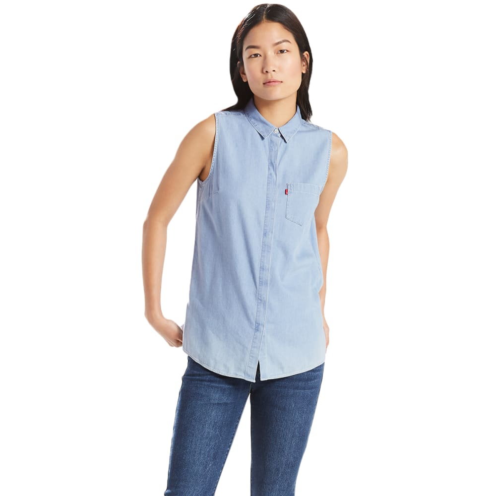 LEVI'S Women's Coralie Sleeveless Shirt - 0000-LIGHT WASH