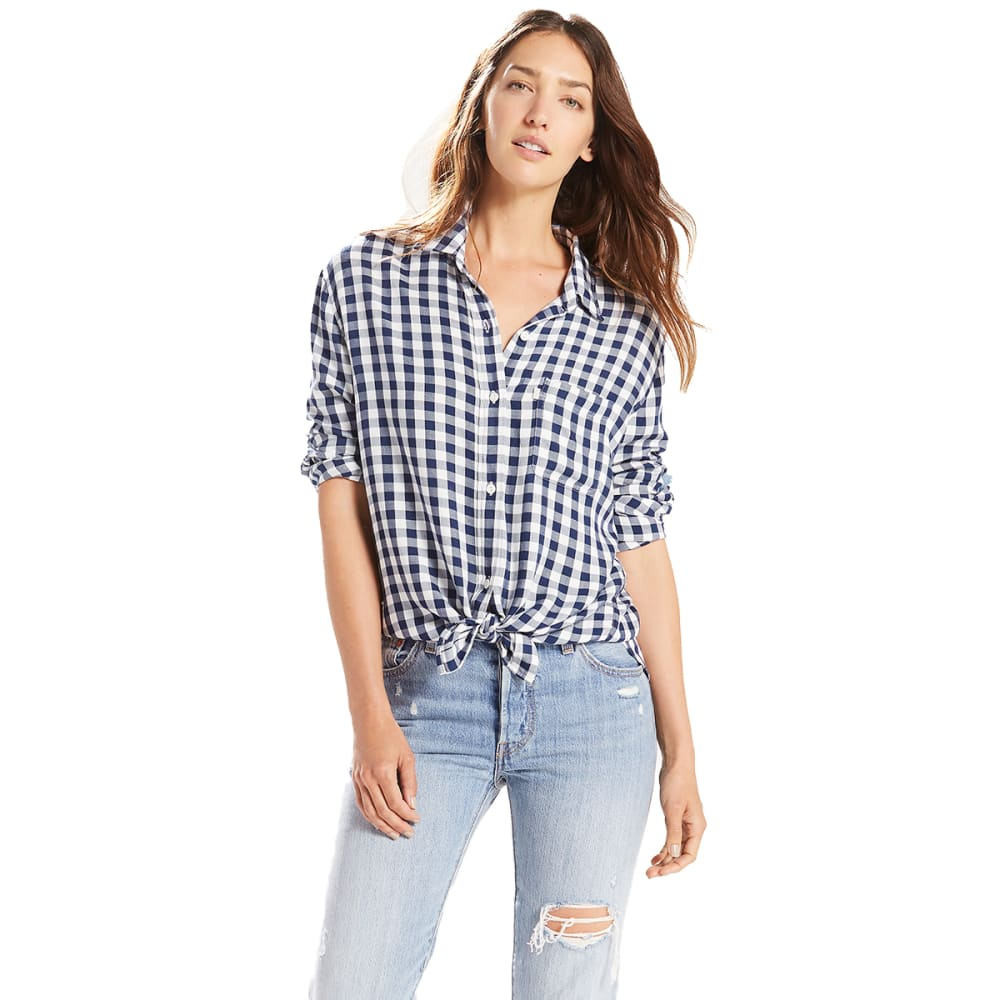 LEVI'S Women's Ryan One-Pocket Boyfriend Shirt - 0009-ETNA PEACOAT