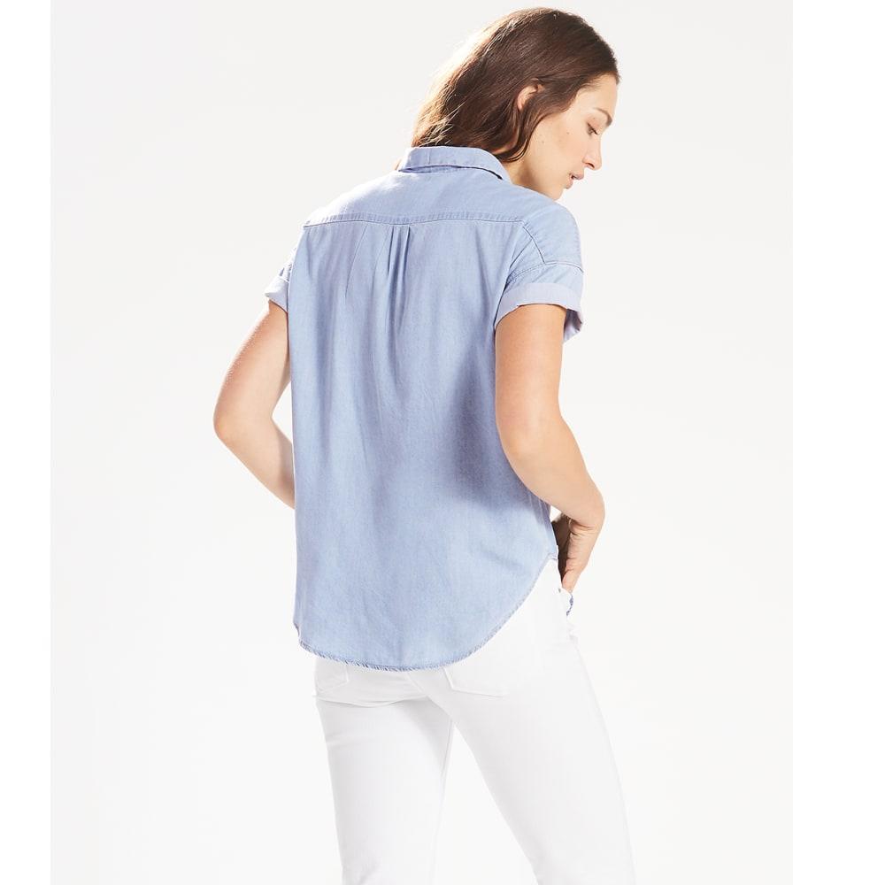 LEVI'S Women's Sadie Short-Sleeve Shirt - 0000-LIGHT WASH