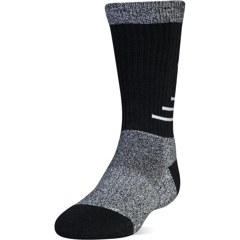 UNDER ARMOUR Big Boys' Phenom 3.0 Crew Socks, 3-Pack - BLACK 960