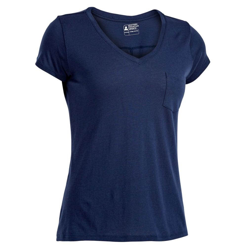 EMS Women's Serenity V-Neck Short-Sleeve Pocket Tee - BLUE NIGHTS