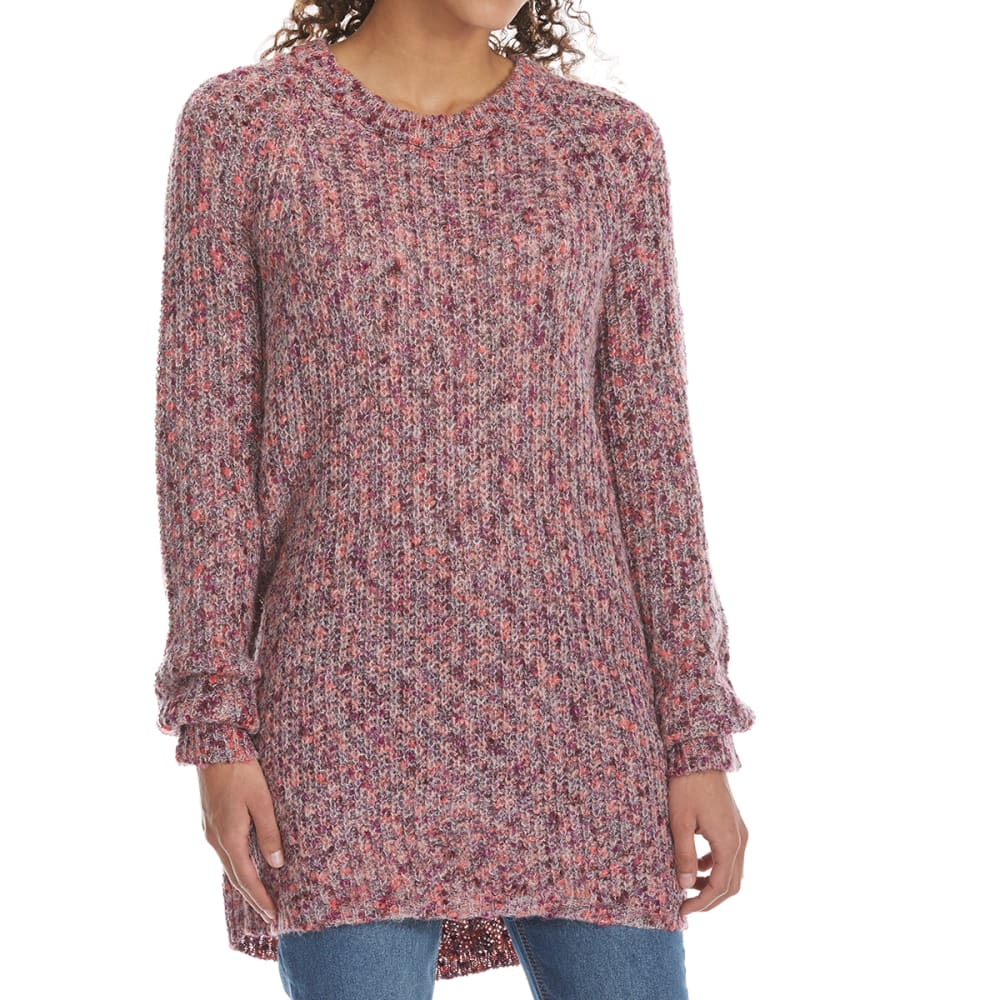TAYLOR & SAGE Juniors' Mixed Marled Long-Sleeve Sweater S