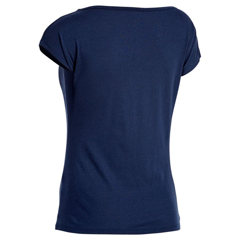 EMS Women's Serenity Cowl-Neck Cap-Sleeve Tee - BLUE NIGHTS