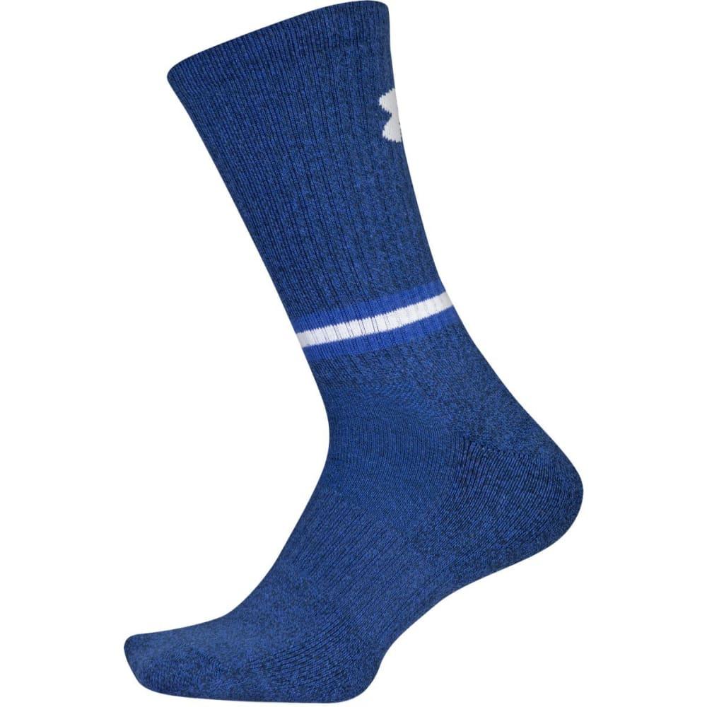 UNDER ARMOUR Men's Phenom 2.0 Crew Socks, 3-Pack - ACADEMY BLUE 961
