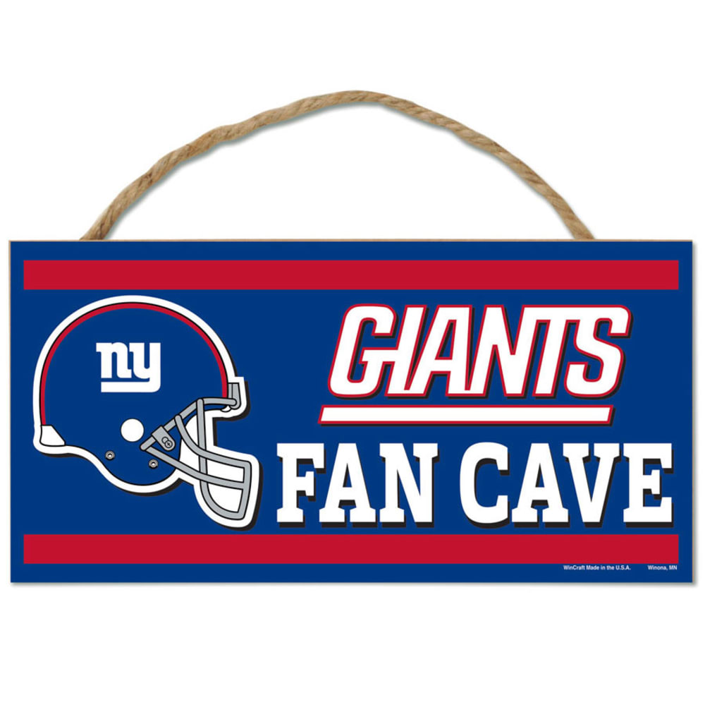 NEW YORK GIANTS Fan Cave Wood Rope Sign - ROYAL BLUE