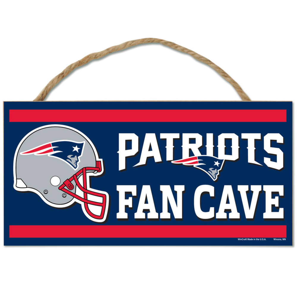 NEW ENGLAND PATRIOTS Fan Cave Wood Rope Sign - NAVY