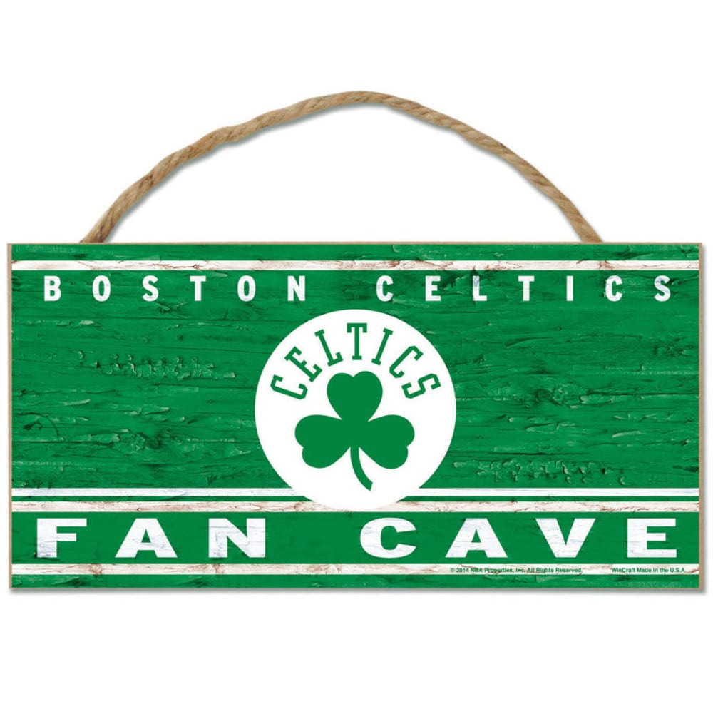 BOSTON CELTICS Fan Cave Wood Rope Sign - GREEN