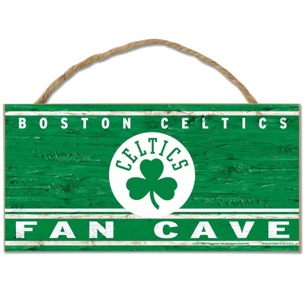 BOSTON CELTICS Fan Cave Wood Rope Sign - GREEN