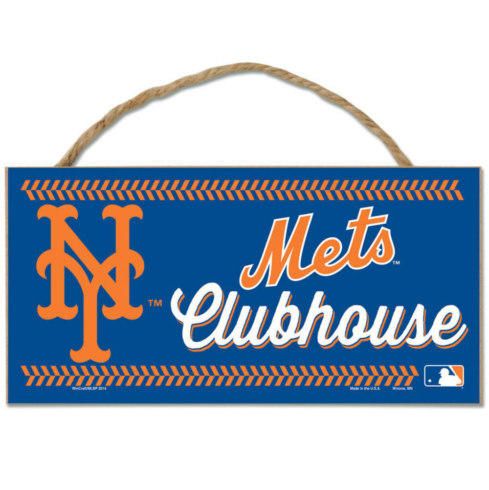 NEW YORK METS Fan Cave Wood Rope Sign - ROYAL BLUE
