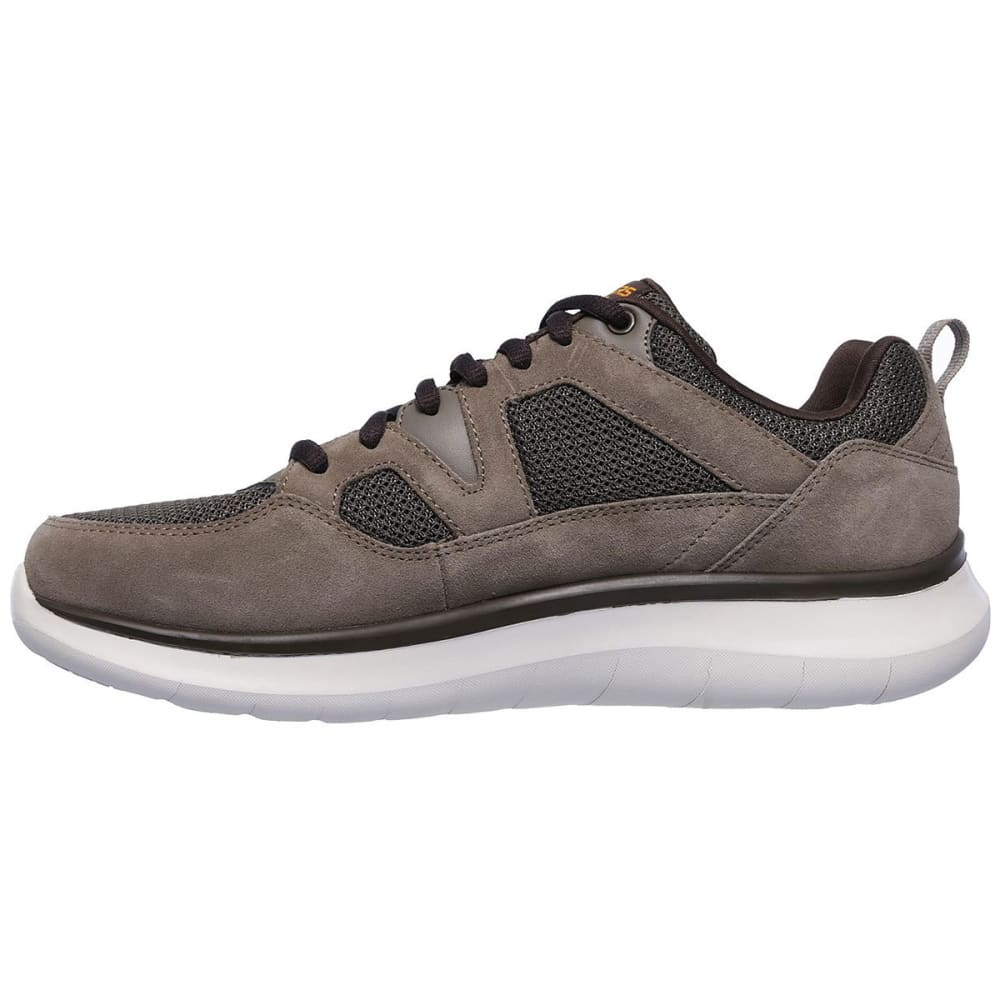 SKECHERS Men's Relaxed Fit: Quantum Flex - Country Walker Sneakers, Wide - BROWN