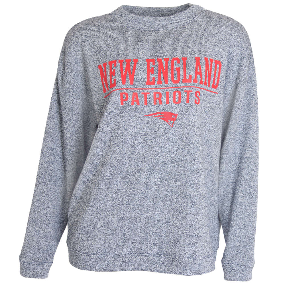 New England Patriots Women's Commit Terry Long-Sleeve Top - Blue, S