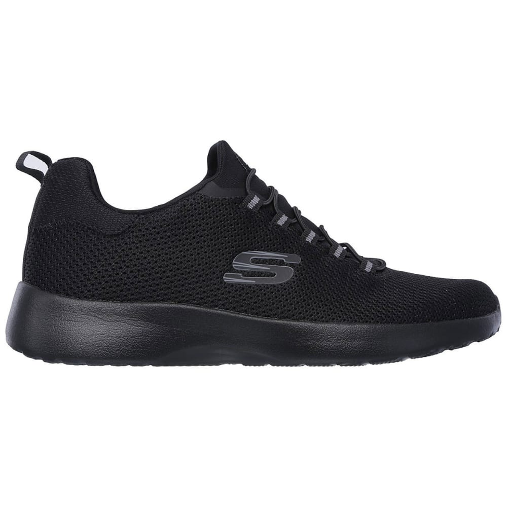 SKECHERS Men's Dynamight Sneakers, Black, Wide - BLACK