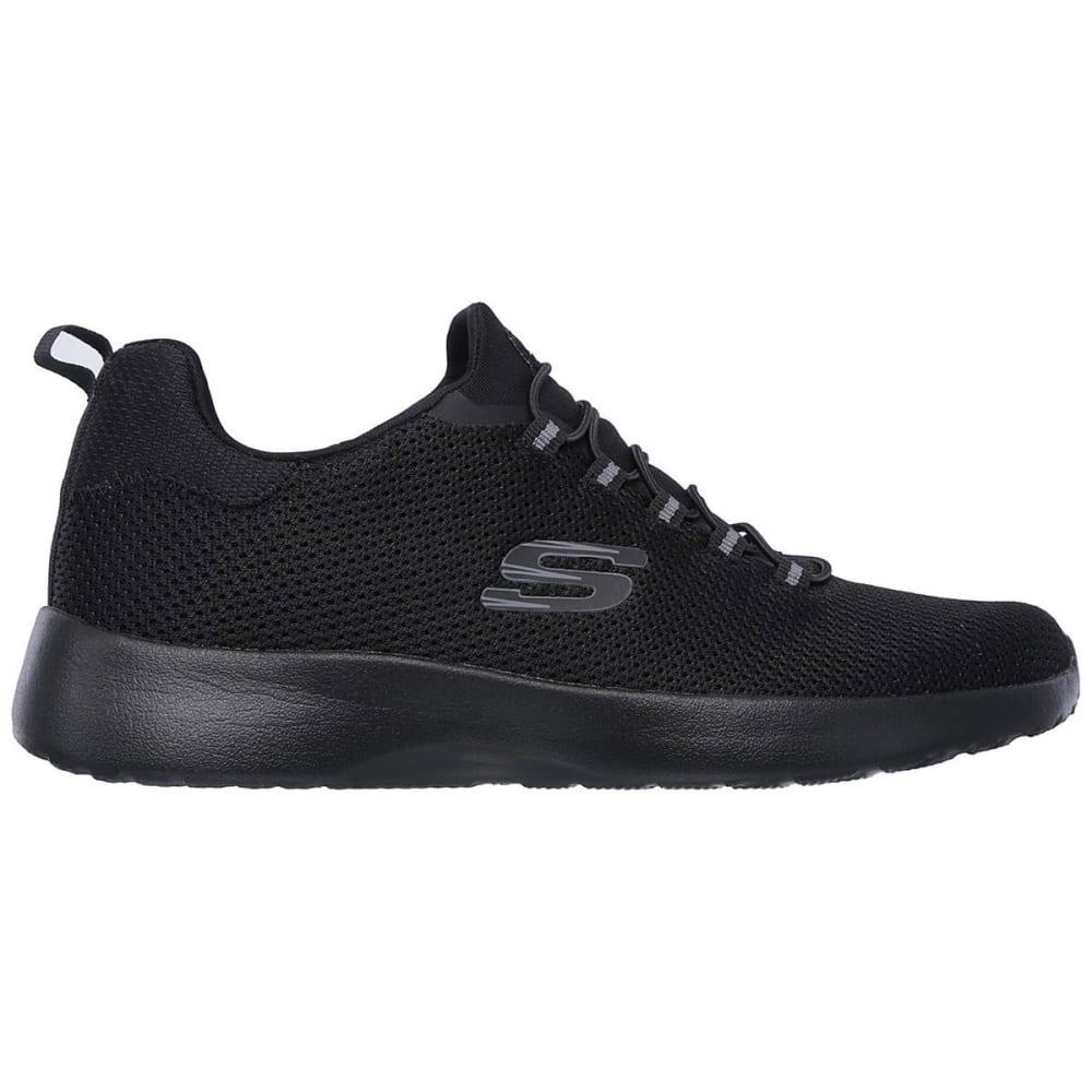 SKECHERS Men's Dynamight Sneakers, Black, Wide - BLACK