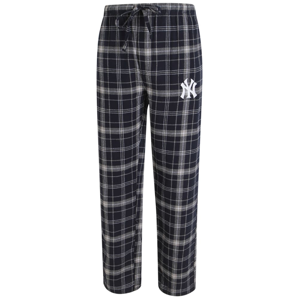 NEW YORK YANKEES Men's Ultimate Flannel Lounge Pants - NAVY/GREY