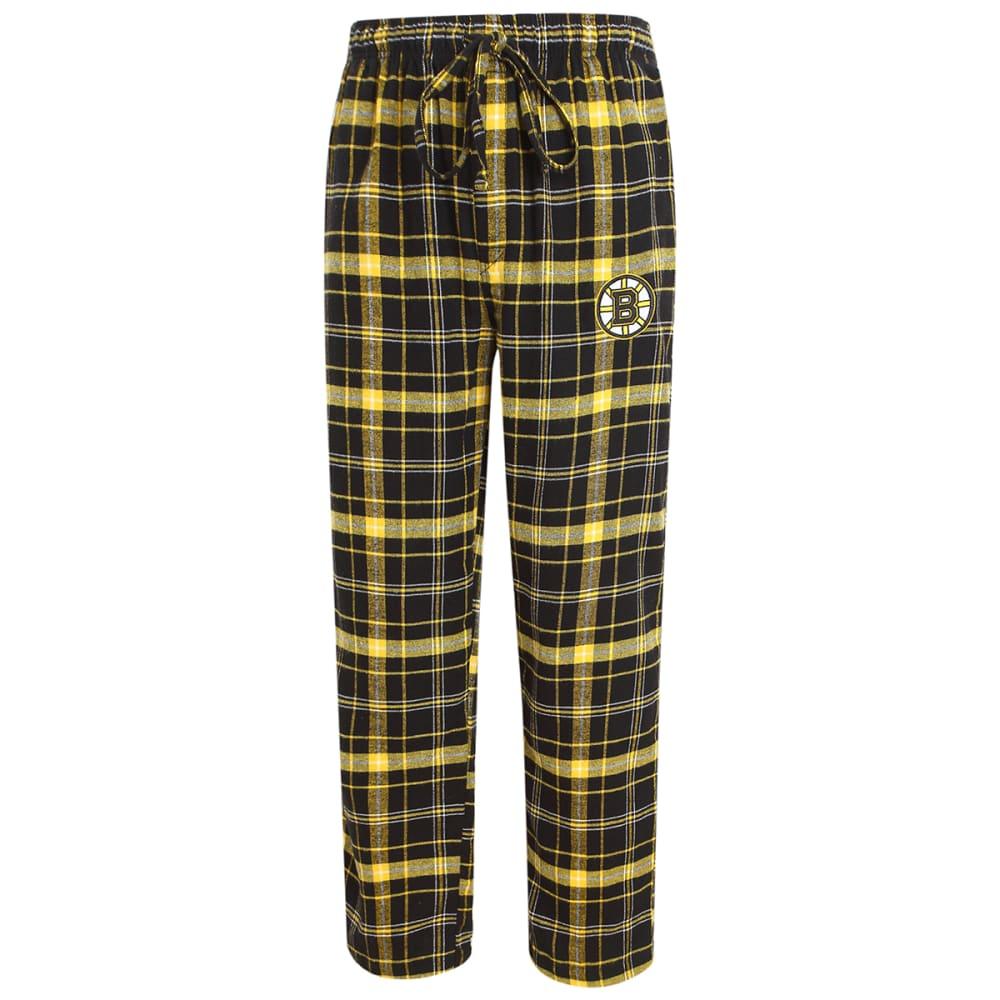 BOSTON BRUINS Men's Ultimate Flannel Lounge Pants - BLACK/GOLD