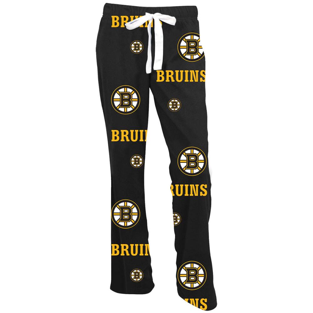 BOSTON BRUINS Women's Ramble Printed Fleece Pants - BLACK
